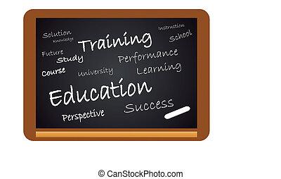oktatás, chalkboard