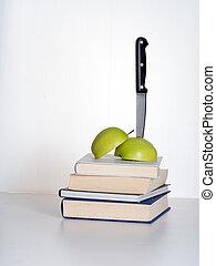 oktatás, darabol, -, feltétel, a, kés, alatt, metafora