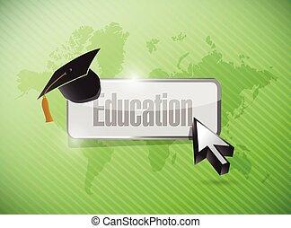 oktatás, fogalom, ábra, tervezés