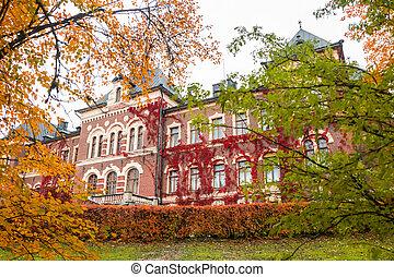 oktober, 7, malmgard., 2019:, loviisa, -, finland, herenhuis huis