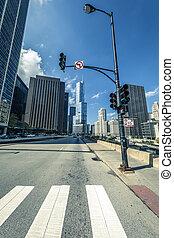 oktober, straat, chicago