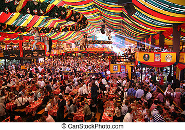 oktoberfest, 16:, germania, monaco, ottobre, -, 16, 2007, ...