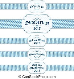 Oktoberfest 2017 banners with text