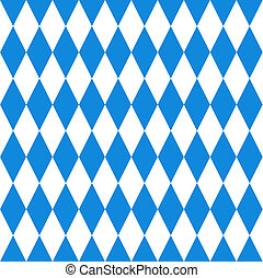 Oktoberfest  background. Bavarian flag pattern.