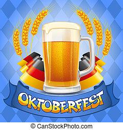 Oktoberfest background - Oktoberfest celebration vector...