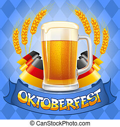 Oktoberfest background - Oktoberfest celebration vector...