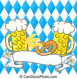 oktoberfest background with copy space - vector illustration...