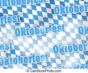 oktoberfest, bandera, baviera, diseño, creativo