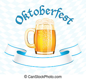 Oktoberfest banner with beer mug