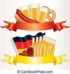 Oktoberfest Banners, design elements for your text