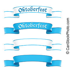 Oktoberfest banners in bavarian colors