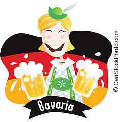 oktoberfest, (bavarian, hím, beer)