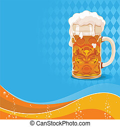 Oktoberfest beer background with place for text