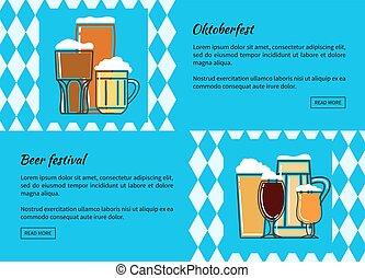 Oktoberfest beer festiva web banner