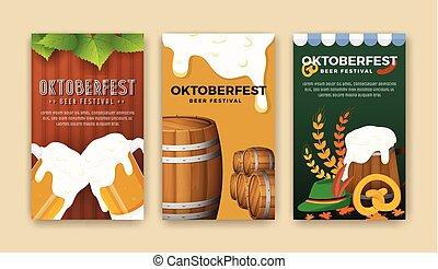 Oktoberfest beer festival advertisement web banner