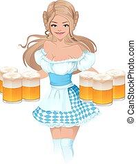 German girl waitress