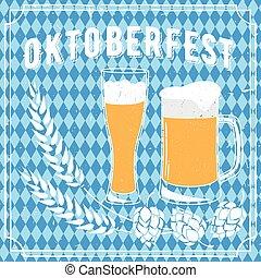Oktoberfest beer festival poster.