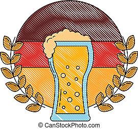 oktoberfest beer germany flag emblem
