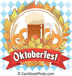 Oktoberfest beer illustration