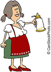 Oktoberfest Beer Maiden