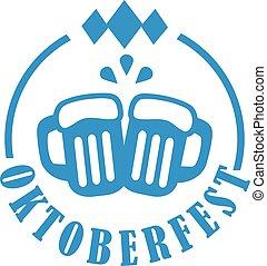 oktoberfest, bière, grandes tasses