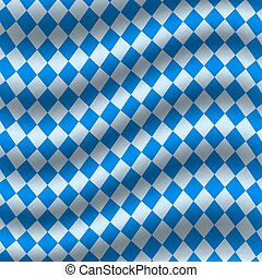 Oktoberfest blue checkered flag background