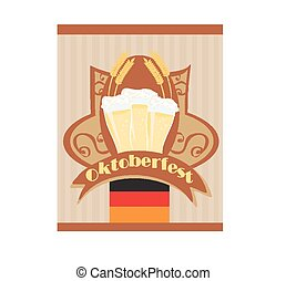 Oktoberfest card with Beer