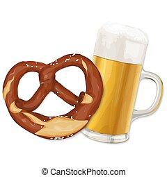 oktoberfest, cerveja, pretzel