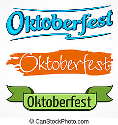 Oktoberfest color lettering