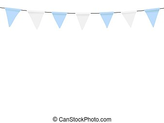 Oktoberfest decoration. Bunting flags.