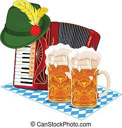 Oktoberfest design - Oktoberfest design with accordion, beer...