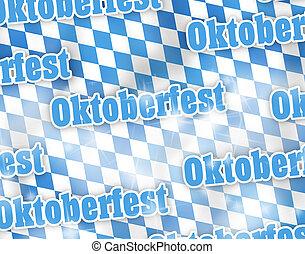 oktoberfest, drapeau, bavière, conception, créatif