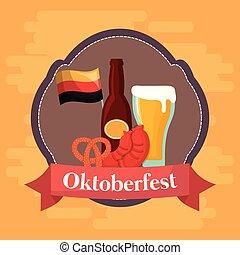 Oktoberfest festival design with icon vectot ilustration