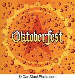 oktoberfest, festival, schiuma, struttura, birra, fondo, bolle