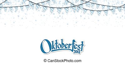 Oktoberfest garlands with confetti