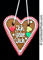 Oktoberfest Gingerbread Heart - gingerbread Oktoberfest...