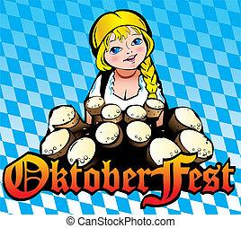 Oktoberfest girl.