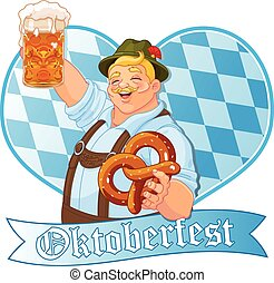 Oktoberfest Guy  - Oktoberfest guy celebrating