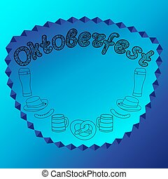 Oktoberfest. Hand drawn illustrations.