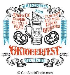 Oktoberfest hand drawn set