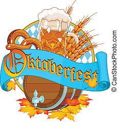 Oktoberfest image - Decorative Oktoberfest design with beer ...