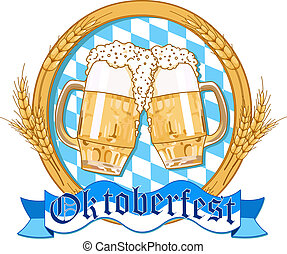 Oktoberfest label design - Oktoberfest label design with...