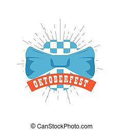 Oktoberfest label with a bowtie icon