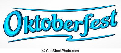 Oktoberfest lettering in blue