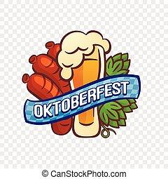 Oktoberfest logo, cartoon style