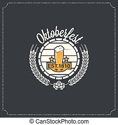 oktoberfest logo design background