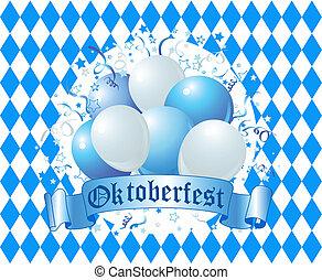 oktoberfest, luftballone, feier