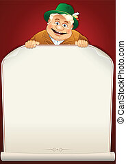 Oktoberfest Man. Cartoon Illustration.