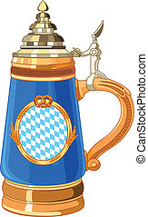 Oktoberfest Mug - Illustration of Oktoberfest Mug