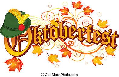 oktoberfest, ontwerp, viering